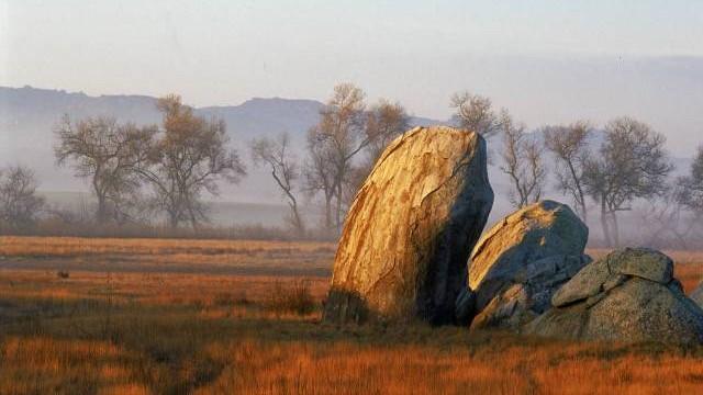 A boulder in the Ramona grasslands