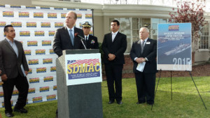 Mayor Kevin Faulconer speaks at the press conference.