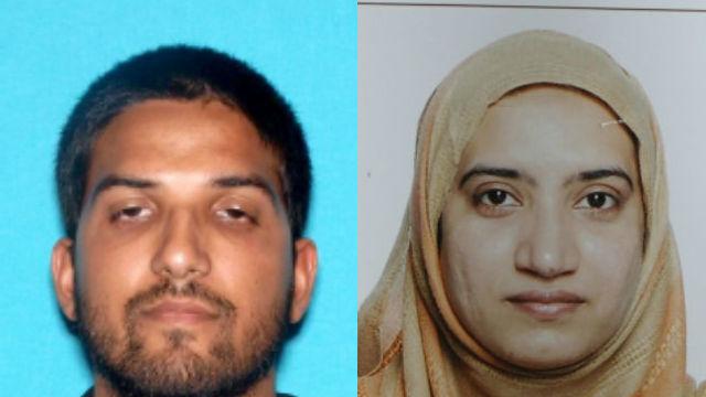 Syed Rizwan Farook (left) and Tashfeen Malik. FBI photos