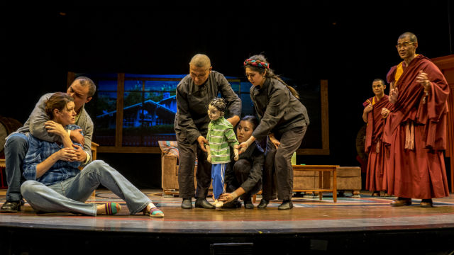 """A scene from """"The Oldest Boy"""" at the Lyceum Theatre."""