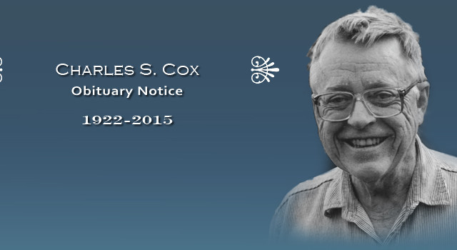 Charles Cox. Courtesy of scripps.ucsd.edu