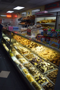 Desserts beckon in display case of bakery attached to D.Z. Akin's. Photo by Donald Harrison
