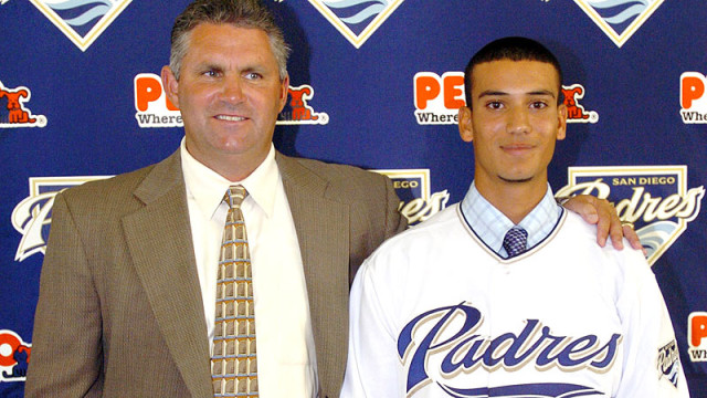 Matt Bush after being drafted in 2004. Courtesy of ESPN