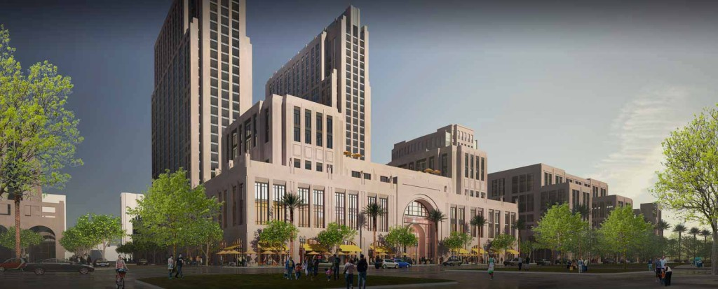 The proposed redevelopment of the Navy downtown waterfront headquarters. Photo courtesy of Manchester Pacific Gateway