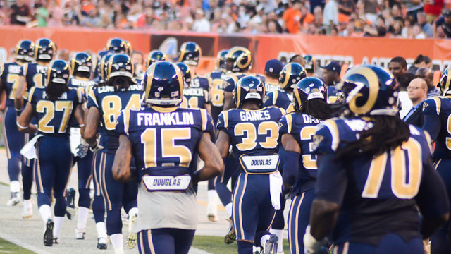 St. Louis Rams players in 2014. Photo by Erik Daniel Drost via Wikimedia Commons