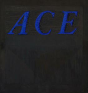 "Ed Ruscha, ""Ace,"" 1962"
