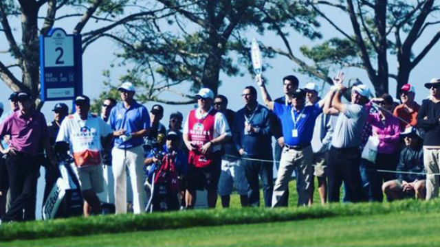 Fans at the Farmers Insurance Open. Courtesy of the tournament