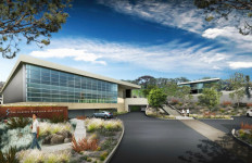 Architect's rendering of the new buildings planned for Scripps Research Institute's campus in La Jolla.