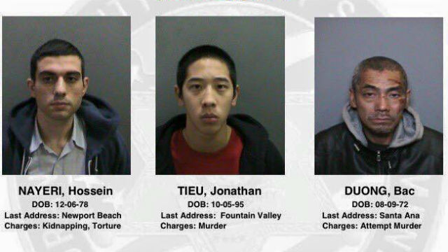 The three prisoners who escaped from the Central Men's Jail in Santa Ana.