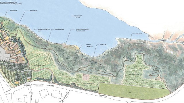 A map of the proposed Agua Hedionda 85/15 Plan