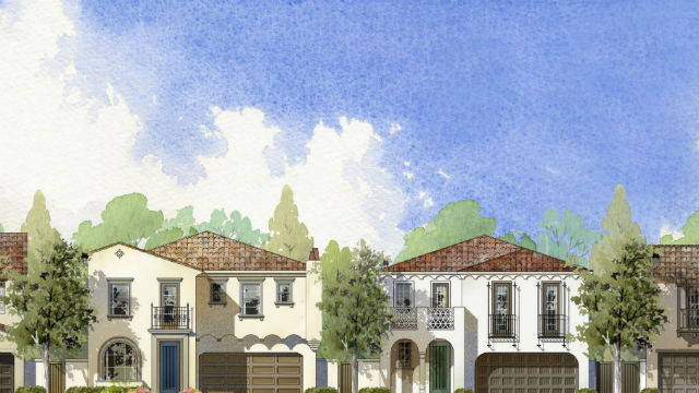 Architect's rendering of Parkview community. Courtesy Pardee Homes