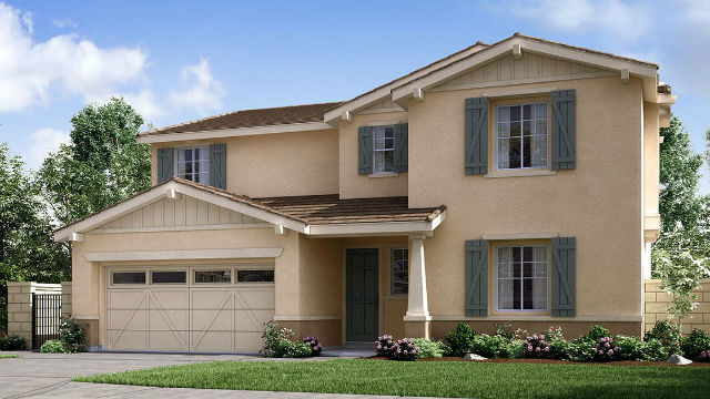 A two-story home in the Pradera development by Lennar in Escondido.