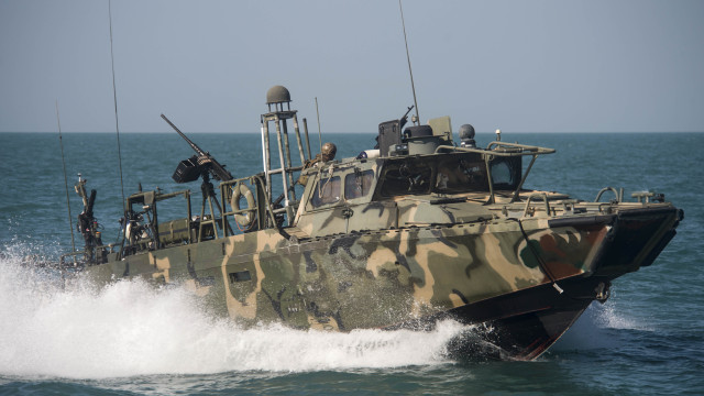 A Navy Riverine Command Boat like the ones detained by Iran. Navy photo