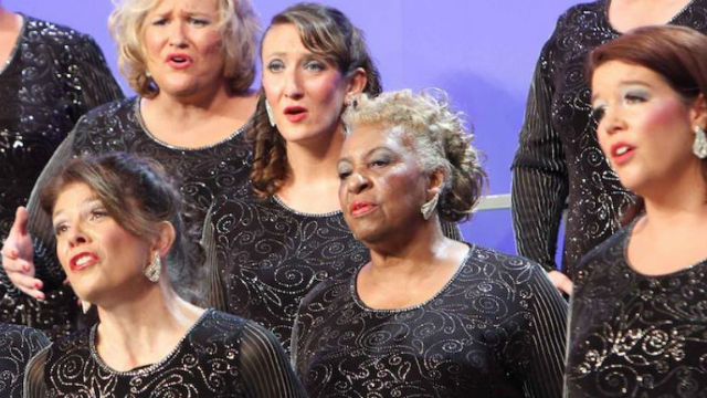 Members of the San Diego Chorus at a performance.