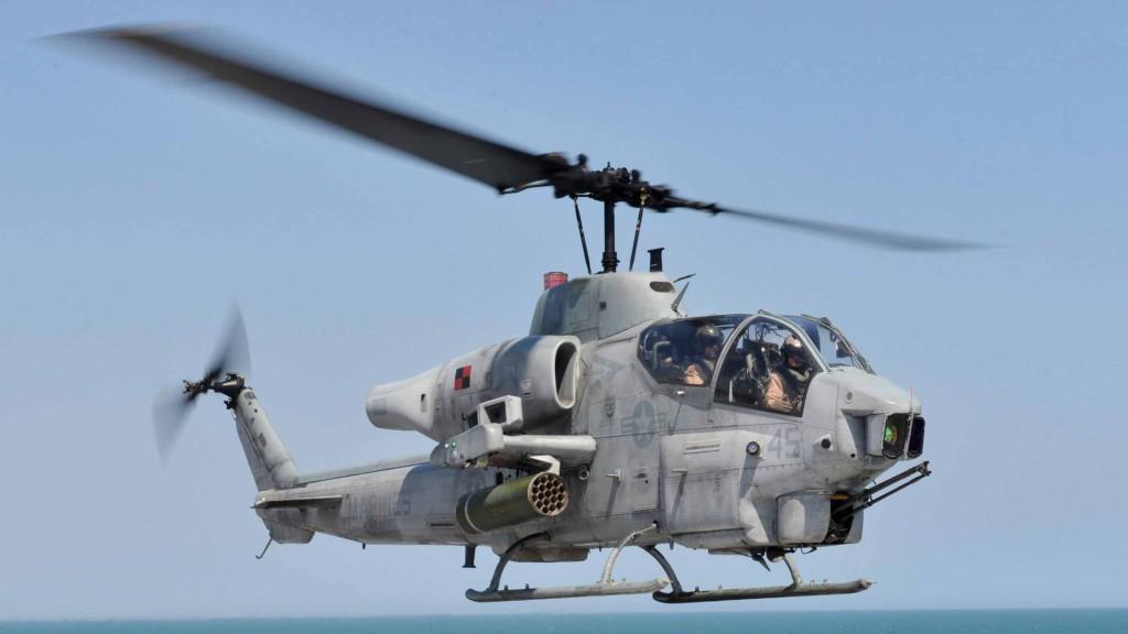 The AH-1W Super Cobra. Navy Photo by Mass Navy photo by Mark Hays via Wikimedia Commons