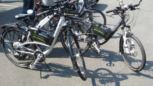 Electric bikes. Photo courtesy of brewbooks via Flickr