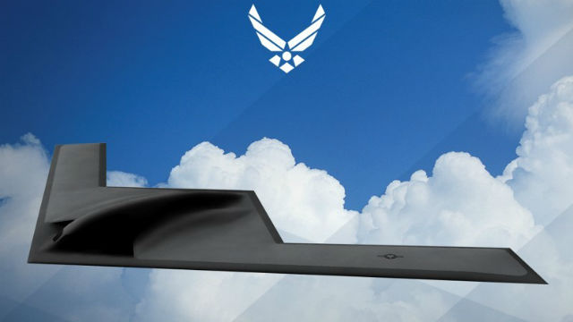 Official Air Force rendering of Northrop Grumman B-21 bomber. REUTERS