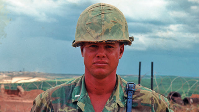 Supervisor Bill Horn as a young marine. Image from his webiste