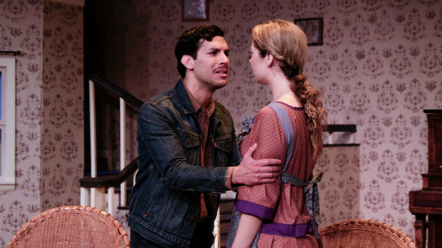 "Alex Guzman and Laura Bohlin in ""The Dark at The Top of The Stairs."" Photo by Ken Jacques Pictured:"