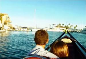 A gondola ride in the Coronado Cays. Courtesy the Gondola Company