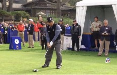 K.J. Choi on Sunday at the Farmers Insurance Open. Image from tournament video stream