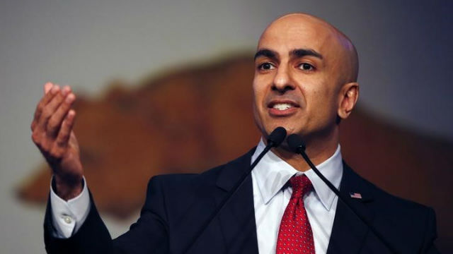 Neel Kashkari speaks to a California Republican Party event in 2014. REUTERS/Stephen Lam