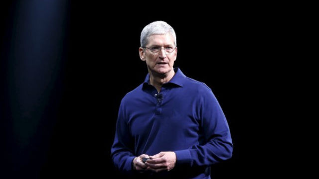 Apple CEO Tim Cook speaks at a developers conference in 2015.