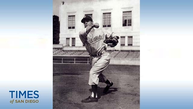 Ed Sanclemente was a big slugger and  star infielder for the 1947 University of California's NCAA champion team. Photo via partletonsports.com