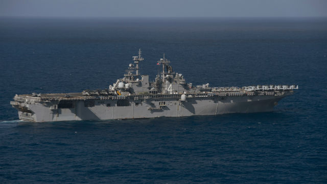 USS Boxer in the Pacific