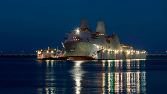 The amphibious transport dock USS John P. Murtha. Navy photo