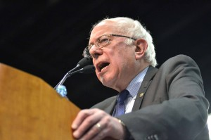 Bernie Sanders at San Diego rally. Photo by Chris Stone
