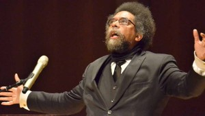 Cornel West at MiraCosta College Town Hall. Photo by Ken Stone
