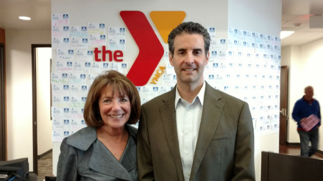 Rep. Susan Davis and her Maryland colleague Rep. John Sarbanes. Photo by Chris Jennewein