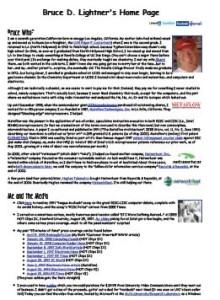 Bruce Lightner's career and personal biography (PDF)