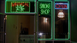 A medical marijuana shop in Los Angeles. Photo by Laurie Avocado via Wikimedia Commons