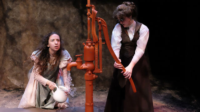 "A scene from ""The Miracle Worker"" at Lamb's Players Theatre."