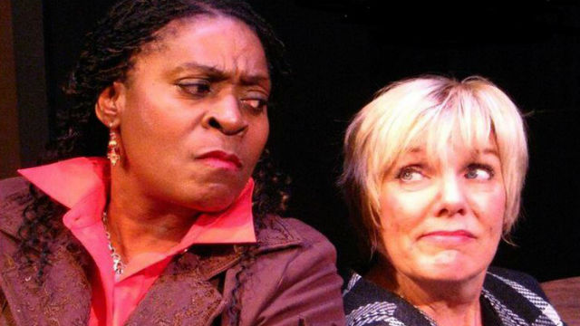 """A scene from the Vantage Theatre production of """"Rasheeda Speaking."""" Image from promotional poster"""
