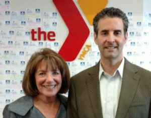 Susan Davis and John Sarbanes at the Copley-Price Family YMCA in San Diego.