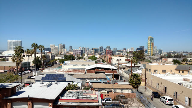 Barrio Logan with downtown San Diego in the distance. Photo by Chris Jennewein
