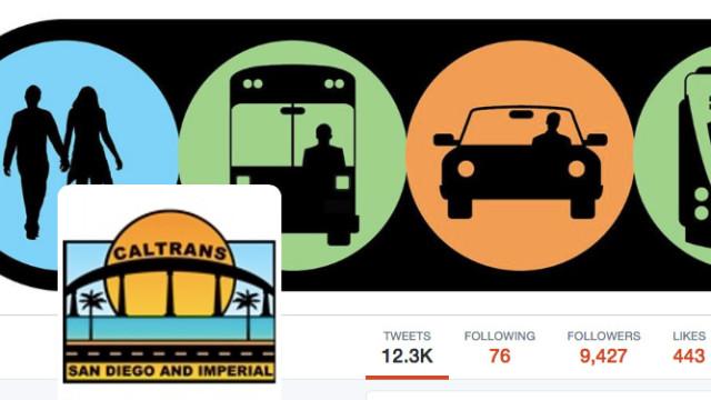 Caltrans on Twitter. Image via Twitter.com