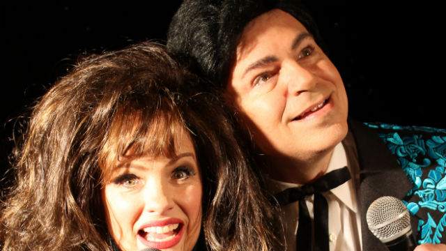 "Phil Johnson and Eileen Bowman in ""The Doyle and Debbie Show"" at Broadway Vista Theatre."