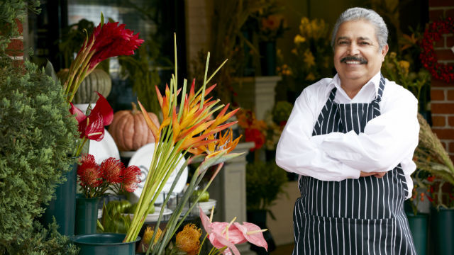 The owner of a flower shop. Courtesy UC Riverside