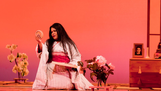 "Latonia Moore in the San Diego Opera's production of ""Madama Butterfly."""