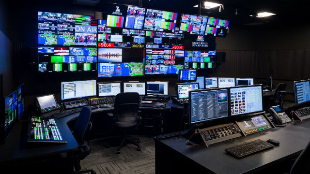 NBC 7 San Diego's new control room in Kearny Mesa. Courtesy of the station