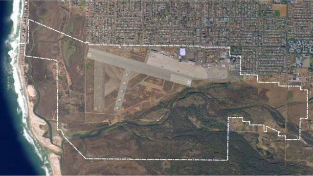 Location of Naval Outlying Field south of Imperial Beach. Courtesy Department of Defense
