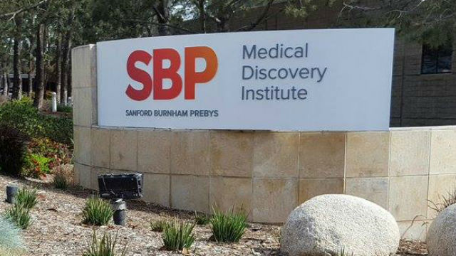 An entrance to the Sanford Burnham Pebys Medical Discovery Institute in La Jolla. Courtesy of the institute