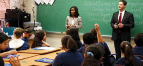 FBI educational program visits classroom. Photo via FBI.