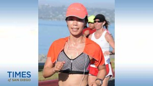Vivian Lee at last year's America's Finest City Half-Marathon. Photo courtesy Vivian Lee