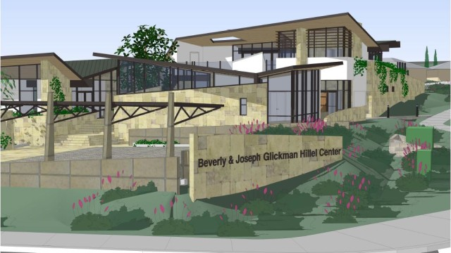 Rendering of the Hillel center