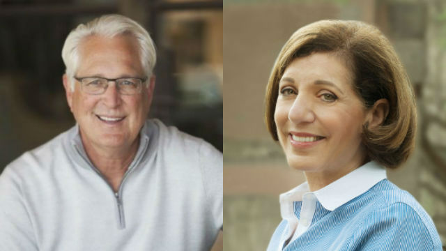 Ray Ellis and Barbara Bry. Campaign photos